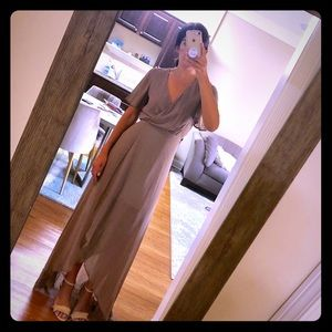 Show Me Your MuMu - Taupe Maxi Dress